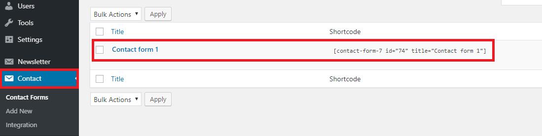 add contact to menu wordpress