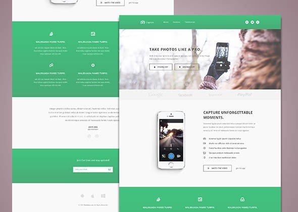 Capture — Free Bootstrap HTML Template