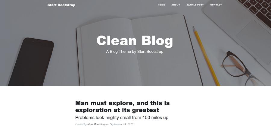 Clean Blog قالب html
