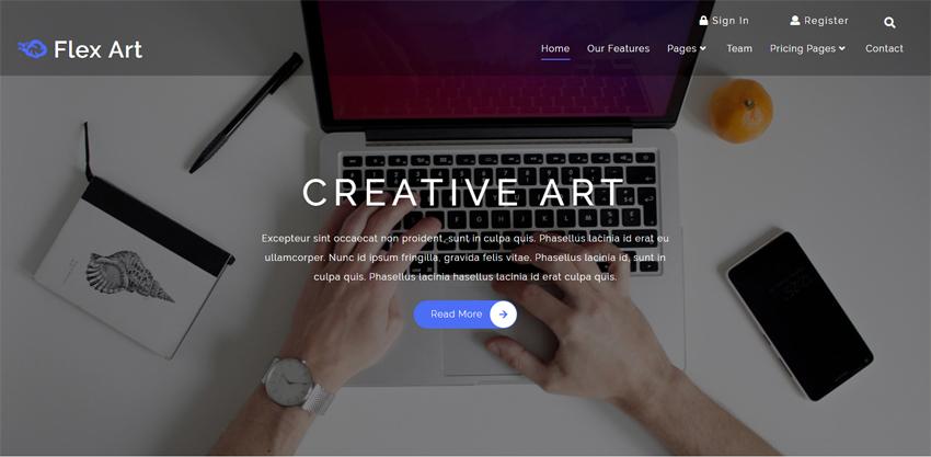 Flex Art - قالب HTML