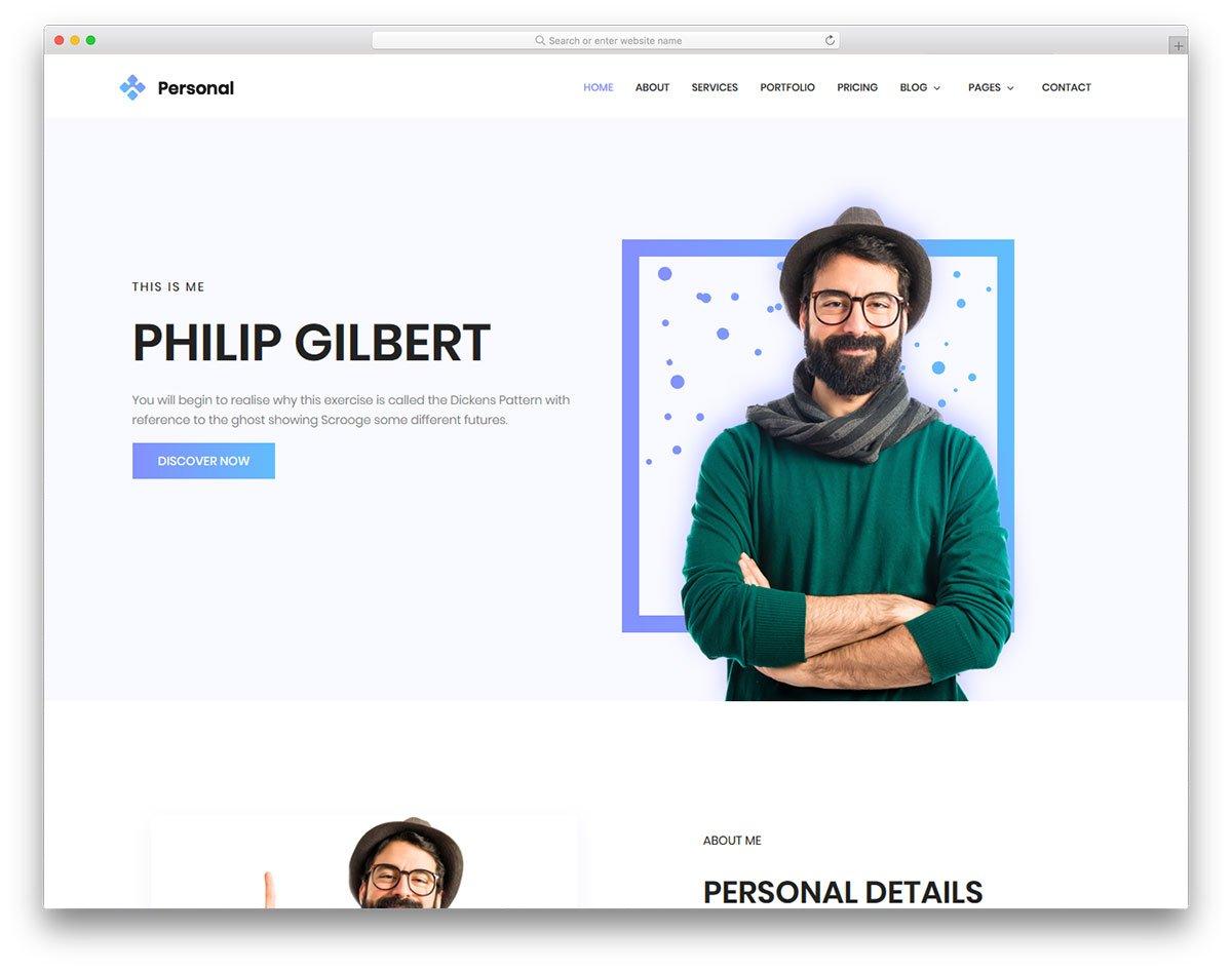 Personal - قالب html مجاني