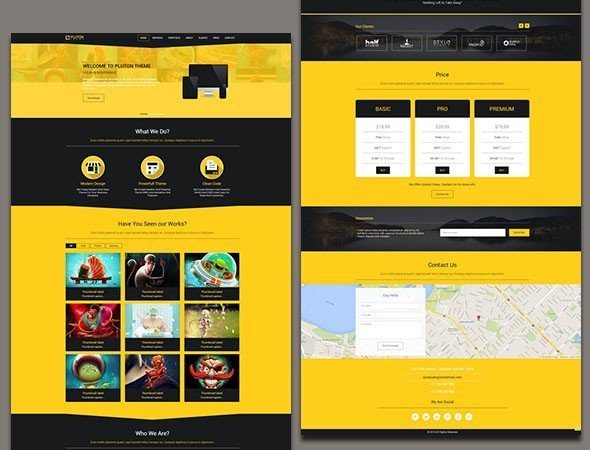 Pluton — Single Page Bootstrap Template