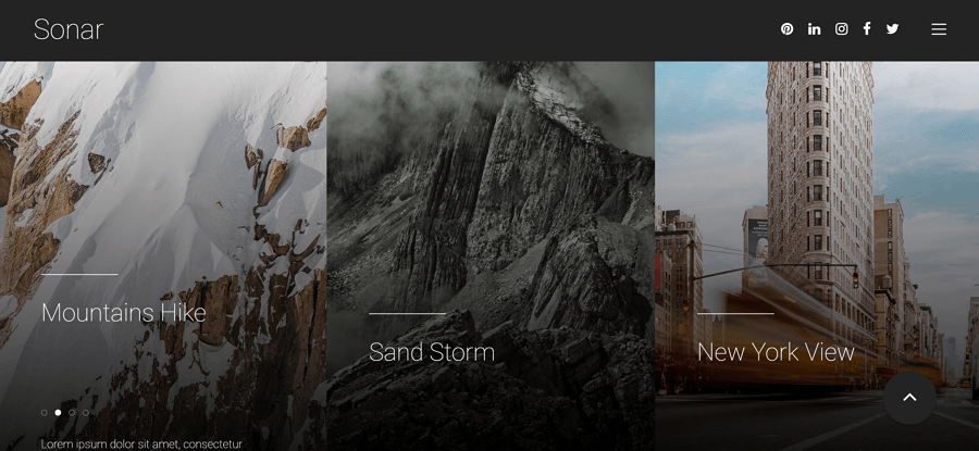 Sonar - قالب html مجاني