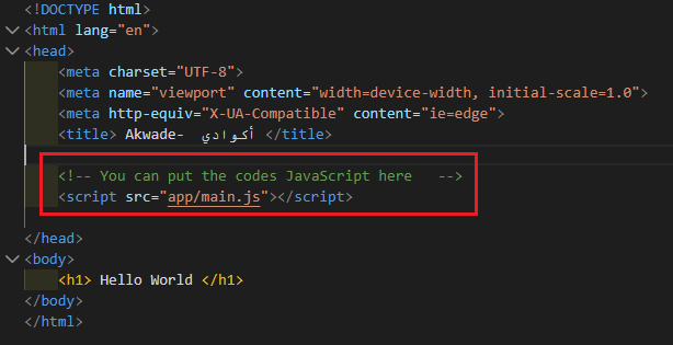 Put Code Js in Head Tag