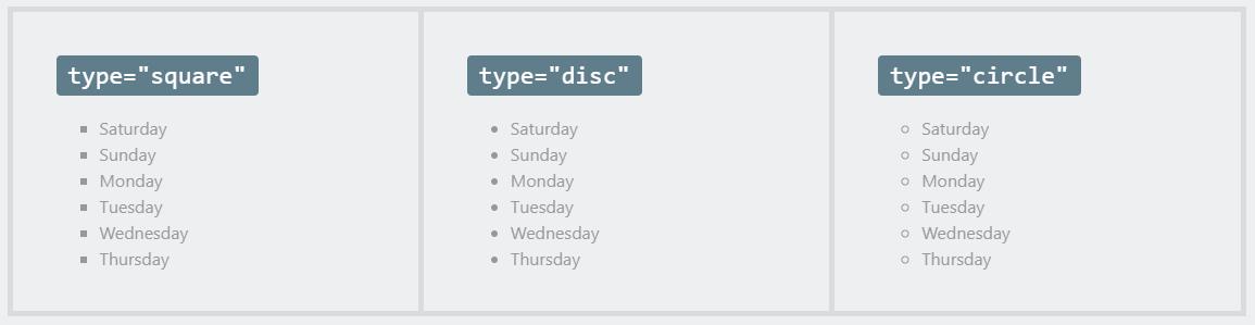 attribute type ul