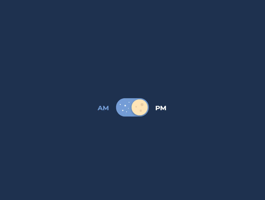 """Pure Css """"day and night"""" toggle"""