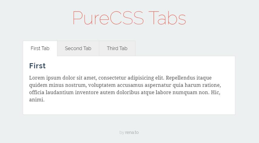PureCSS Tabs