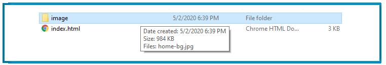 image inside folder